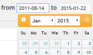 Post Pay Counter - Pay authors on WordPress - Date picker