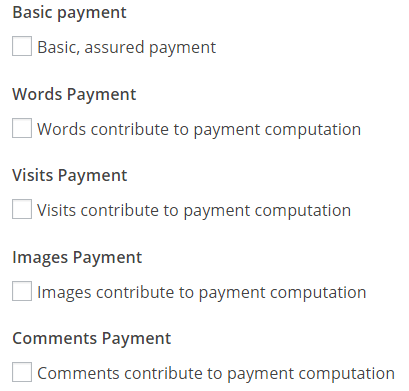 Post Pay Counter - Pay authors on WordPress - Payment criteria