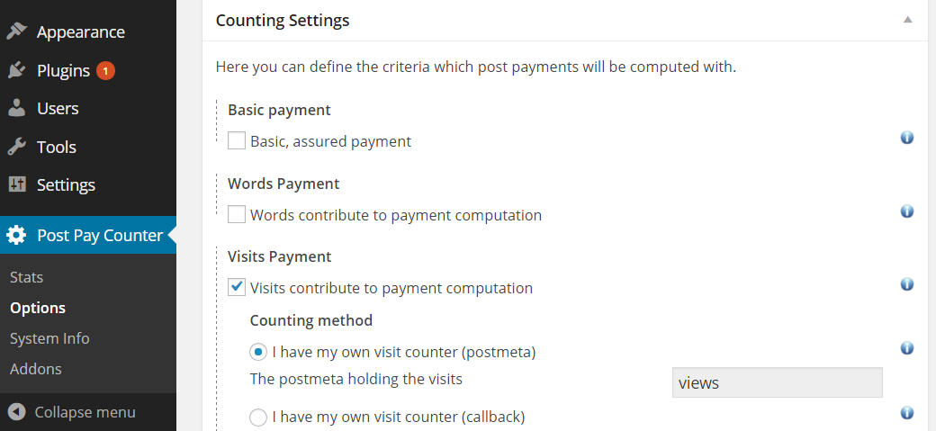 Pay writers per visit WordPress - WP-PostViews