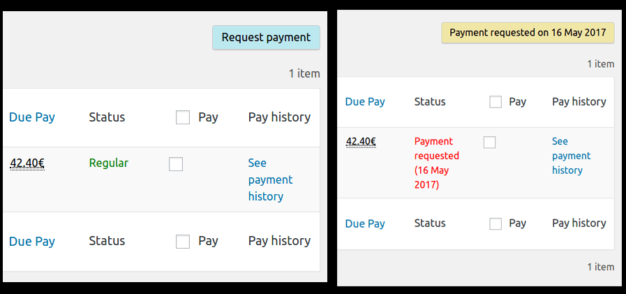 Request Payment - Buttons