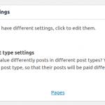 Define custom settings for each post type